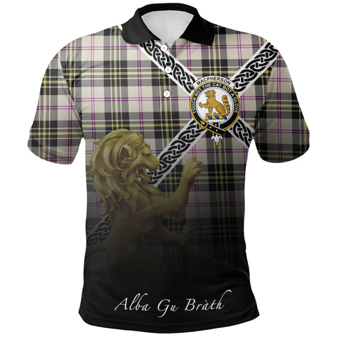 Image of MacPherson Dress Ancient Polo Shirts Tartan Crest Celtic Scotland Lion A30