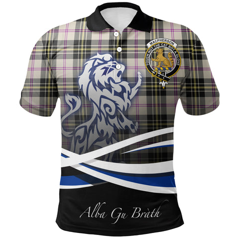 Image of MacPherson Dress Ancient Polo Shirts Tartan Crest Scotland Lion A30