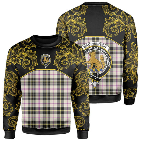 MacPherson Dress Ancient Tartan Clan Crest Sweatshirt - Empire I - HJT4