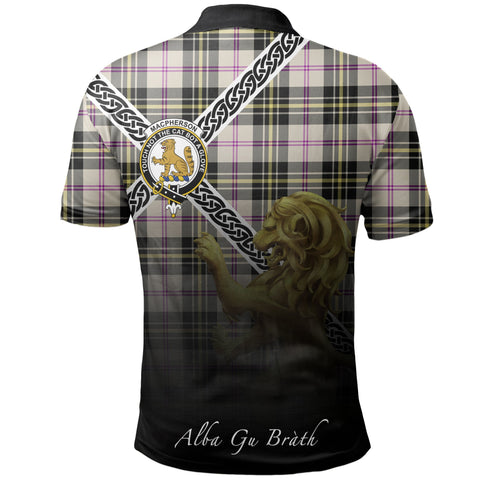 MacPherson Dress Ancient Polo Shirts Tartan Crest Celtic Scotland Lion A30