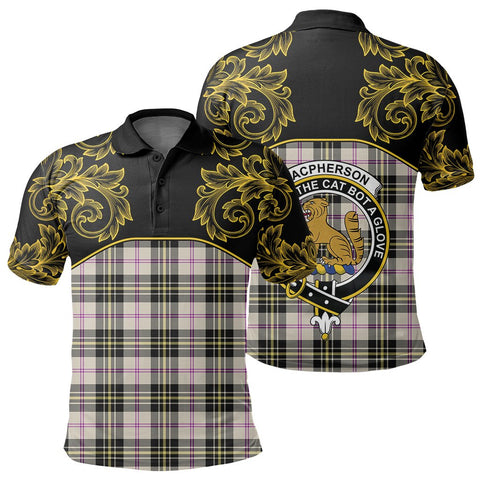 MacPherson Dress Ancient Tartan Clan Crest Polo Shirt - Empire I - HJT4