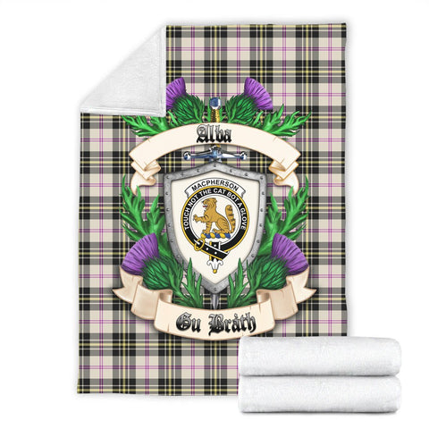 MacPherson Dress Ancient Crest Tartan Blanket Thistle  | Tartan Home Decor | Scottish Clan