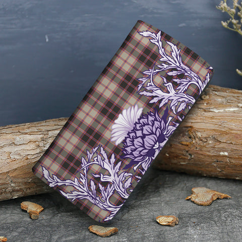 MacPherson Hunting Ancient Tartan Wallet Women's Leather Thistle A91