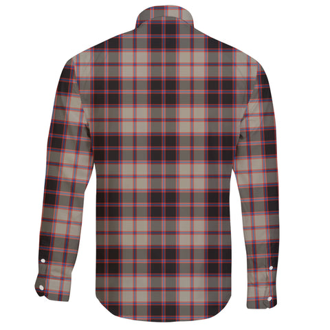 Image of MacPherson Hunting Ancient Tartan Clan Long Sleeve Button Shirt A91