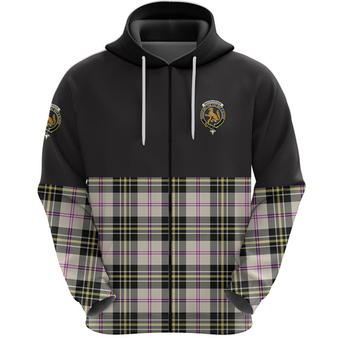 MacPherson Dress Ancient Clan Zip Hoodie Half of Tartan