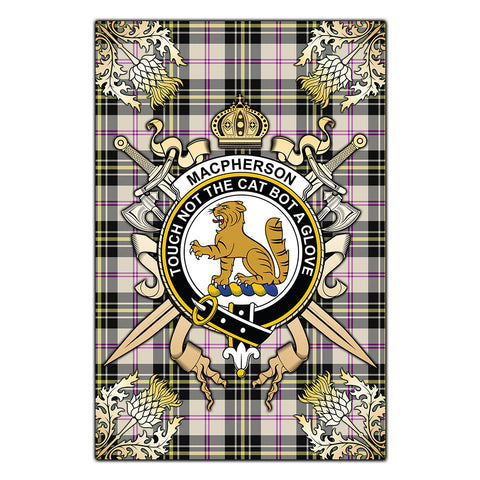 Garden Flag MacPherson Dress Ancient Clan Crest Sword Gold Thistle