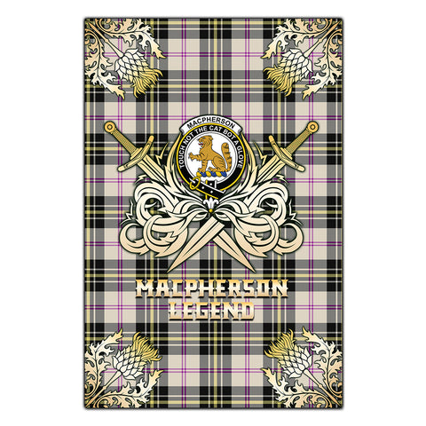 Garden Flag MacPherson Dress Ancient Clan Crest Golf Courage  Gold Thistle