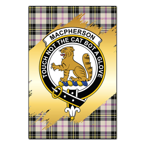 Garden Flag MacPherson Dress Ancient Clan Gold Crest Gold Thistle