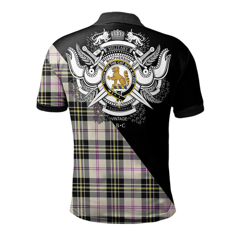 Image of MacPherson Dress Ancient Clan Military Logo Polo Shirt K23