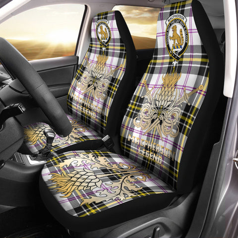 Car Seat Cover MacPherson Dress Modern Clan Crest Gold Thistle Courage Symbol