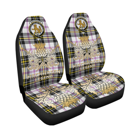 Car Seat Cover MacPherson Dress Modern Clan Crest Gold Thistle Courage Symbol K9