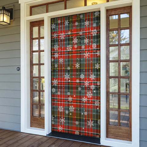 MacPherson Weathered Christmas Tartan Door Sock Cover