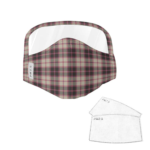 MacPherson Hunting Ancient Tartan Face Mask With Eyes Shield - Pink & Brown  Plaid Mask TH8