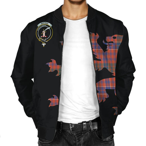 MacRae Tartan Lion & Thistle Men Jacket | scottishclans.co