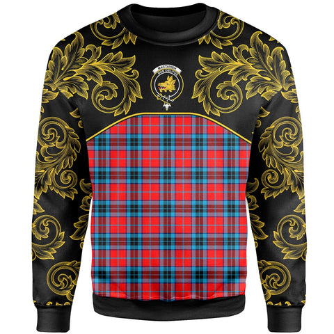 MacTavish Modern Tartan Clan Crest Sweatshirt - Empire I - HJT4 - Scottish Clans Store - Tartan Clans Clothing - Scottish Tartan Shopping - Clans Crest - Shopping In scottishclans - Sweatshirt For You