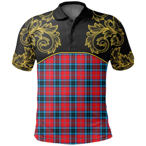 MacTavish Modern Tartan Clan Crest Polo Shirt - Empire I - HJT4 - Scottish Clans Store - Tartan Clans Clothing - Scottish Tartan Shopping - Clans Crest - Shopping In scottishclans - Polo Shirt For You