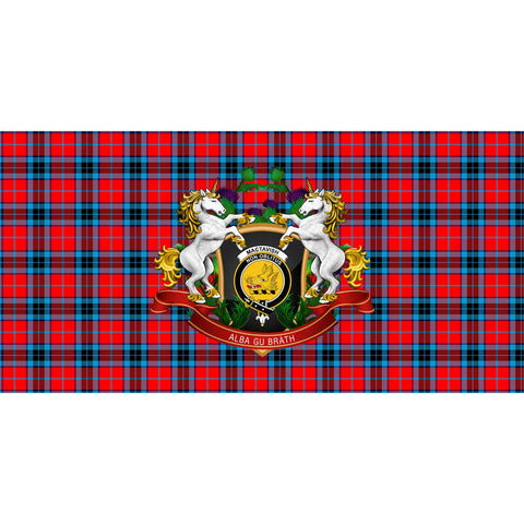 MacTavish Modern Crest Tartan Tablecloth Unicorn Thistle A30