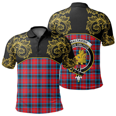 MacTavish Modern Tartan Clan Crest Polo Shirt - Empire I - HJT4