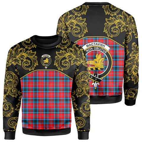 Image of MacTavish Modern Tartan Clan Crest Sweatshirt - Empire I - HJT4