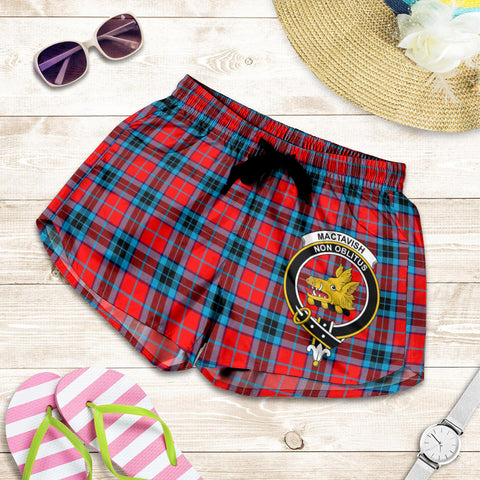 MacTavish Modern crest Tartan Shorts For Women