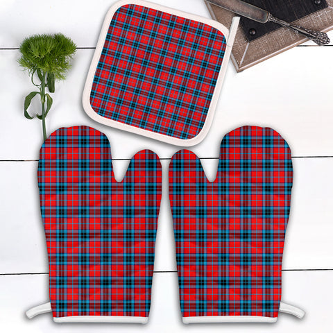 MacTavish Modern Clan Tartan Scotland Oven Mitt And Pot-Holder (Set Of Two)
