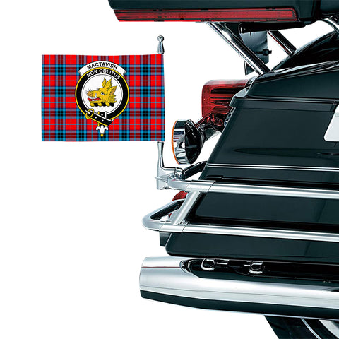 Image of MacTavish Modern Clan Crest Tartan Motorcycle Flag