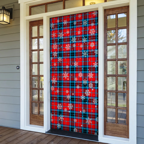 MacTavish Modern Christmas Tartan Door Sock Cover