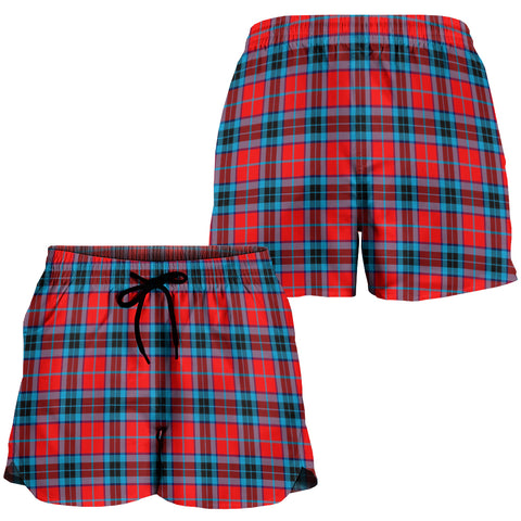 MacTavish Modern Crest Tartan Shorts For Women K7