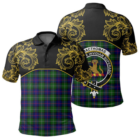 Image of MacThomas Modern Tartan Clan Crest Polo Shirt - Empire I - HJT4