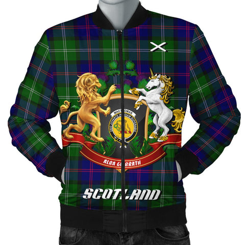 MacThomas Modern | Tartan Bomber Jacket | Scottish Jacket | Scotland Clothing