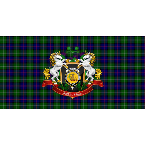 Image of MacThomas Modern Crest Tartan Tablecloth Unicorn Thistle A30