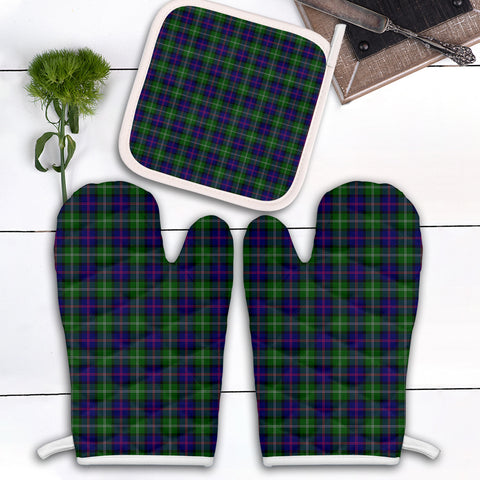 MacThomas Modern Clan Tartan Scotland Oven Mitt And Pot-Holder (Set Of Two)