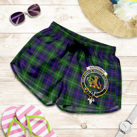 MacThomas Modern crest Tartan Shorts For Women