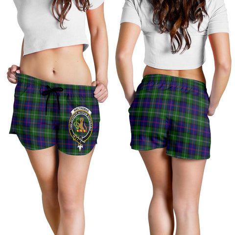 MacThomas Modern Crest Tartan Shorts For Women K7