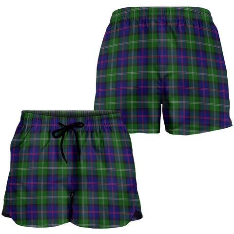 Image of MacThomas Modern Crest Tartan Shorts For Women K7