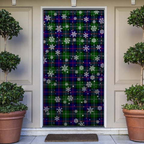 MacThomas Modern Christmas Tartan Door Sock Cover