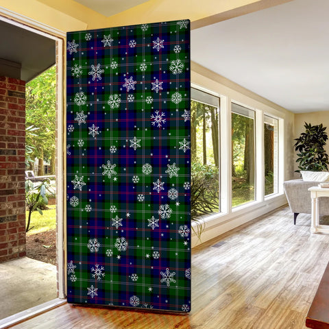 Image of MacThomas Modern Christmas Tartan Door Sock Cover