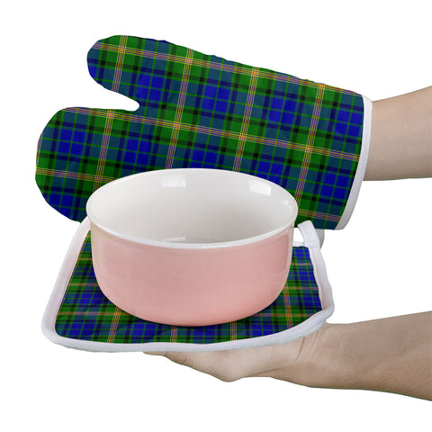 Maitland Clan Tartan Scotland Oven Mitt And Pot-Holder (Set Of Two)