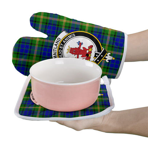 Maitland Clan Crest Tartan Scotland Oven Mitt And Pot-Holder (Set Of Two)