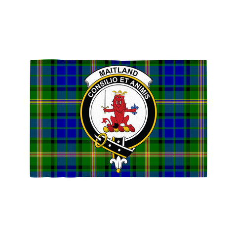 Image of Maitland Clan Crest Tartan Motorcycle Flag