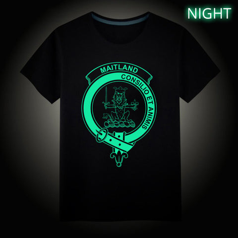Maitland Crest Scottish Clan Luminous T shirt
