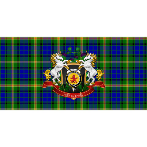 Maitland Crest Tartan Tablecloth Unicorn Thistle A30