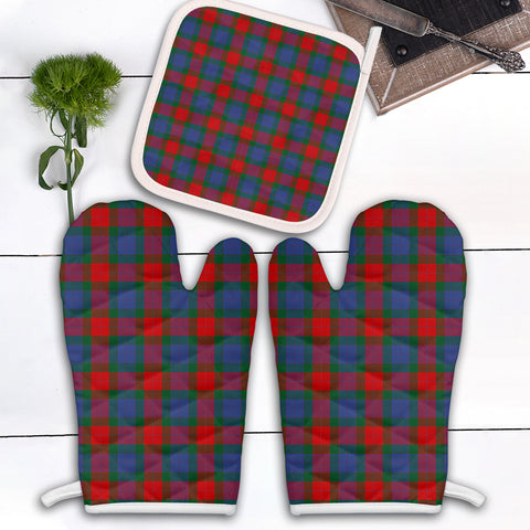 Image of Mar Clan Tartan Scotland Oven Mitt And Pot-Holder (Set Of Two)
