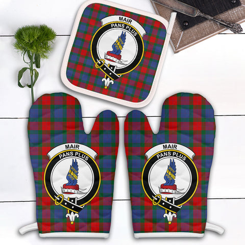 Image of Mar Clan Crest Tartan Scotland Oven Mitt And Pot-Holder (Set Of Two)