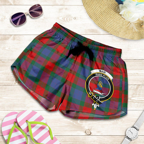 Image of Mar crest Tartan Shorts For Women