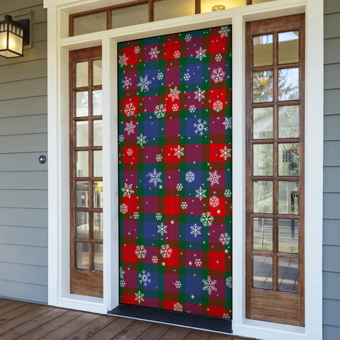 Mar Christmas Tartan Door Sock Cover