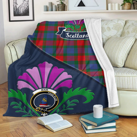 Mar Crest Tartan Blanket Scotland Thistle | Tartan Home Decor | Scottish Clan