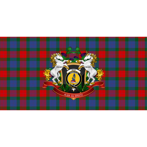 Image of Mar Crest Tartan Tablecloth Unicorn Thistle A30