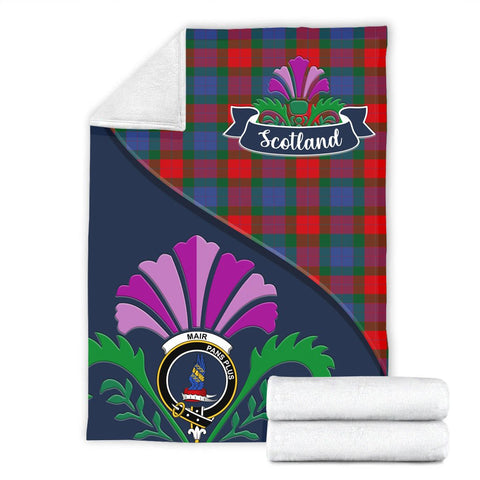 Mar Crest Tartan Blanket Scotland Thistle A30