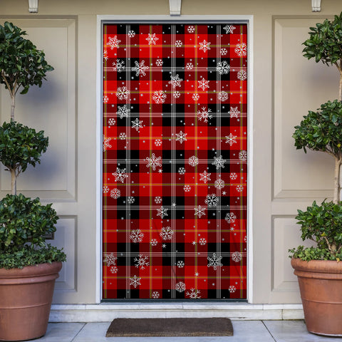 Marjoribanks Christmas Tartan Door Sock Cover